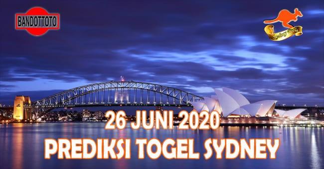 Prediksi Togel Sydney Hari Ini 26 Juni 2020