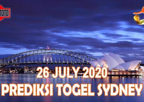Prediksi Togel Sydney Hari Ini 26 Juli 2020