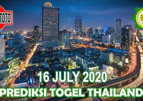 Prediksi Togel Thailand Hari Ini 16 Juli 2020