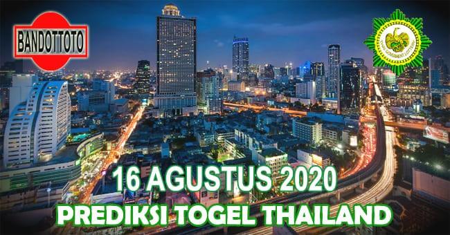Prediksi Togel Thailand Hari Ini 16 Agustus 2020