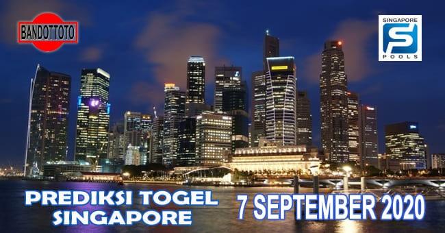 Prediksi Togel Singapore Hari Ini 7 September 2020