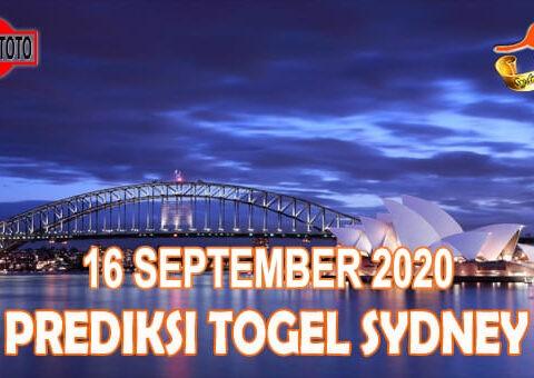 Prediksi Togel Sydney Hari Ini 16 September 2020