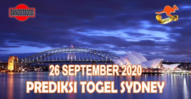 Prediksi Togel Sydney Hari Ini 26 September 2020