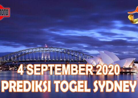 Prediksi Togel Sydney Hari Ini 4 September 2020