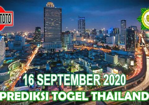 Prediksi Togel Thailand Hari Ini 16 September 2020
