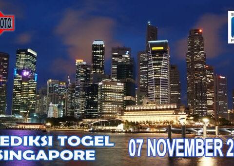 Prediksi Togel Singapore Hari Ini 07 November 2020