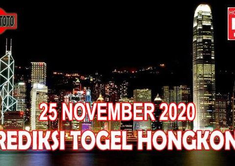 Prediksi Togel Hongkong Hari Ini 25 November 2020