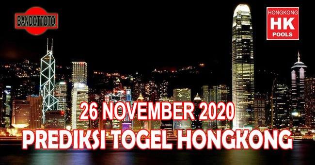 Prediksi Togel Hongkong Hari Ini 26 November 2020