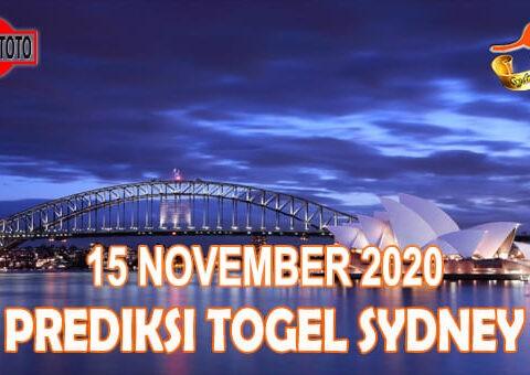 Prediksi Togel Sydney Hari Ini 15 November 2020
