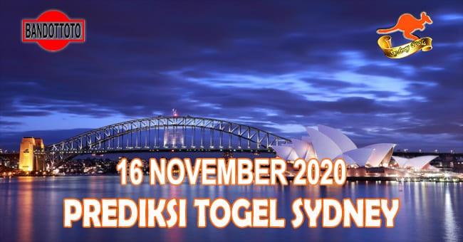 Prediksi Togel Sydney Hari Ini 16 November 2020