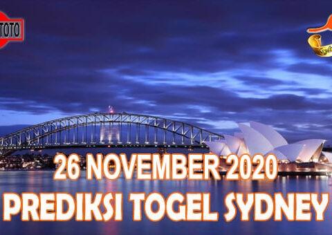 Prediksi Togel Sydney Hari Ini 26 November 2020