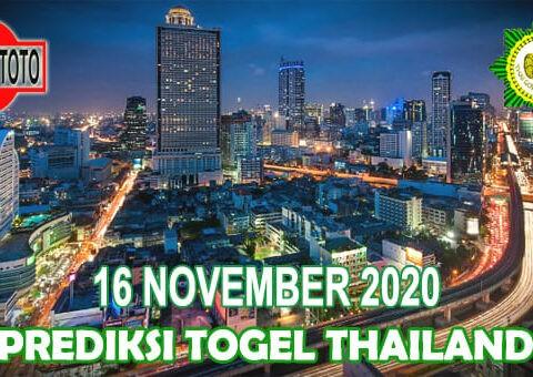 Prediksi Togel Thailand Hari Ini 16 November 2020