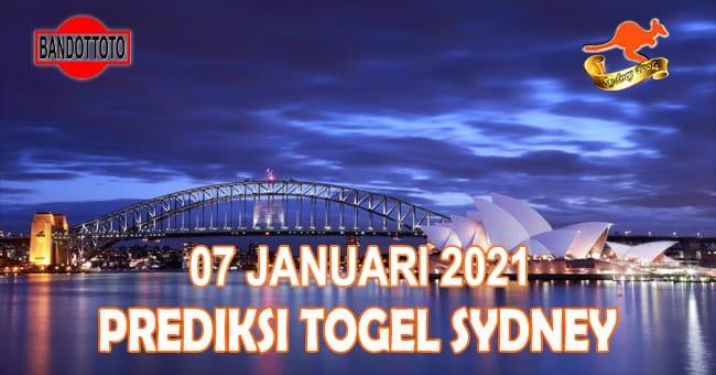 Prediksi Togel Sydney Hari Ini 07 Januari 2021