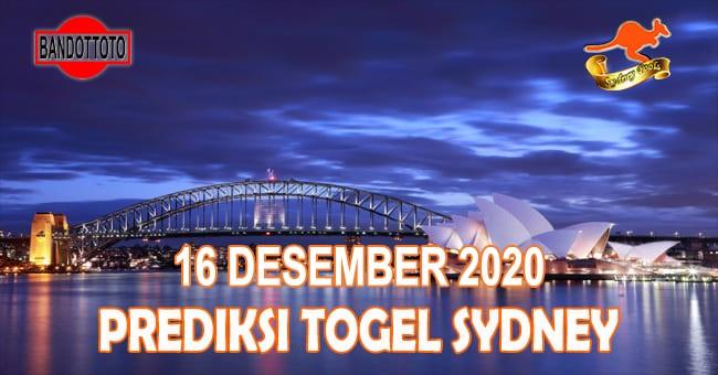 Prediksi Togel Sydney Hari Ini 16 Desember 2020
