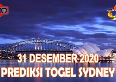 Prediksi Togel Sydney Hari Ini 31 Desember 2020