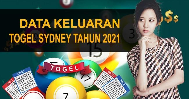 Data Keluaran Togel Sydney Tahun 2021