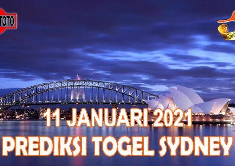 Prediksi Togel Sydney Hari Ini 11 Januari 2021