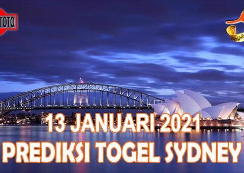 Prediksi Togel Sydney Hari Ini 13 Januari 2021