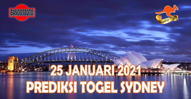 Prediksi Togel Sydney Hari Ini 25 Januari 2021