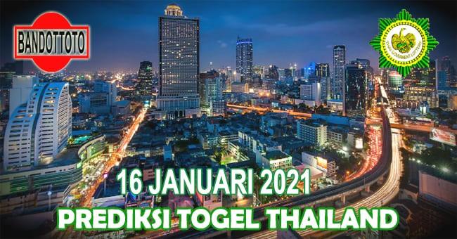 Prediksi Togel Thailand Hari Ini 16 Januari 2021