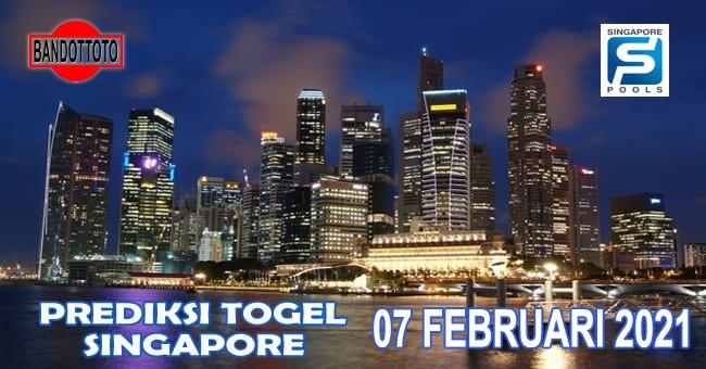 Prediksi Togel Singapore Hari Ini 07 Februari 2021