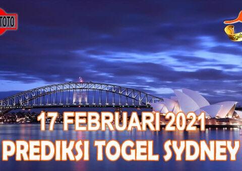 Prediksi Togel Sydney Hari Ini 17 Februari 2021