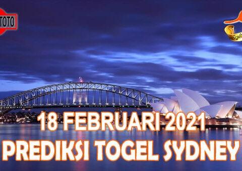 Prediksi Togel Sydney Hari Ini 18 Februari 2021