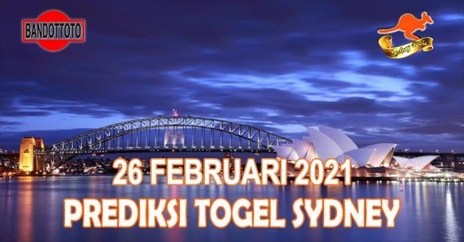 Prediksi Togel Sydney Hari Ini 26 Februari 2021