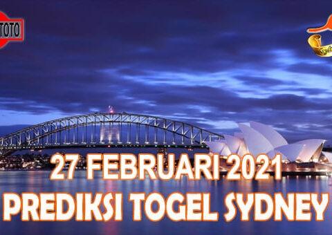 Prediksi Togel Sydney Hari Ini 27 Februari 2021