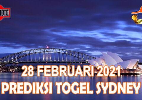 Prediksi Togel Sydney Hari Ini 28 Februari 2021