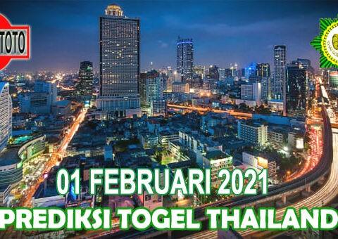 Prediksi Togel Thailand Hari Ini 01 Februari 2021