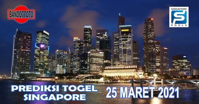 Prediksi Togel Singapore Hari Ini 25 Maret 2021