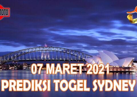 Prediksi Togel Sydney Hari Ini 07 Maret 2021