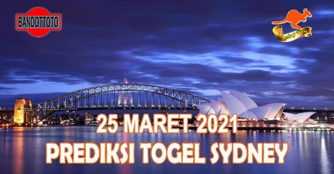 Prediksi Togel Sydney Hari Ini 25 Maret 2021