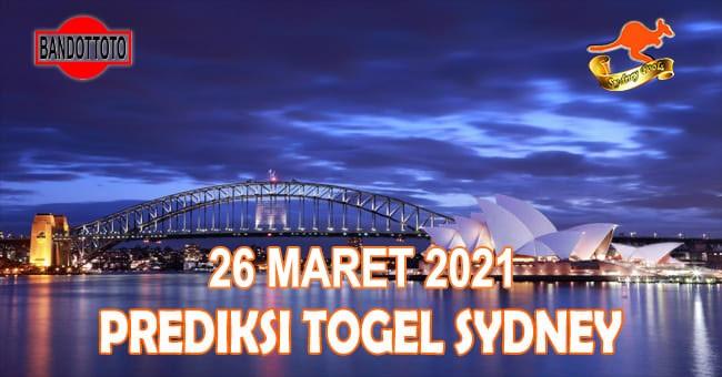 Prediksi Togel Sydney Hari Ini 26 Maret 2021