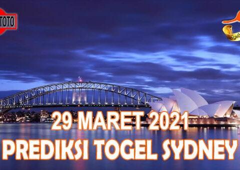 Prediksi Togel Sydney Hari Ini 29 Maret 2021